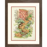 click here to view larger image of Garden Steps - 14 count (counted cross stitch kit)