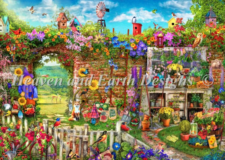 click here to view larger image of Supersized Garden Gate Max Color (chart)