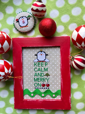 click here to view larger image of Keep Calm and Merry On (chart)