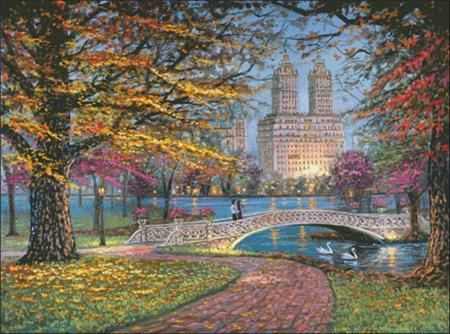 click here to view larger image of Autumn Stroll in Central Park (chart)