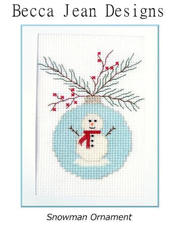 click here to view larger image of Snowman Ornament (chart)