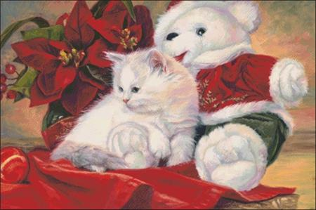 click here to view larger image of Christmas Kitten (chart)