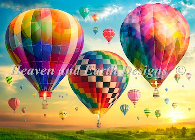 click here to view larger image of Hot Air Balloon Sunrise (chart)