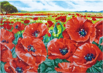 click here to view larger image of Red Poppy Field (Diamond Embroidery)