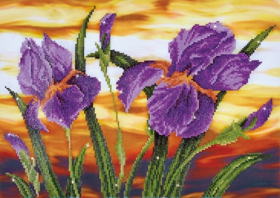 click here to view larger image of Iris Sunset (Diamond Embroidery)