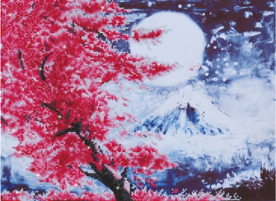 click here to view larger image of Cherry Blossom Mountain (Diamond Embroidery)