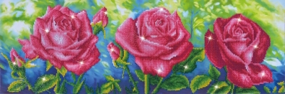 click here to view larger image of Les Roses du Jardin (Diamond Embroidery)