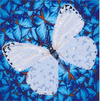 click here to view larger image of Flutterby White (Diamond Embroidery)