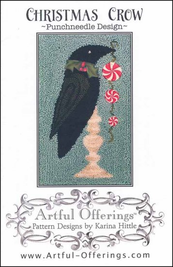 click here to view larger image of Christmas Crow (Punchneedle) (Punchneedle)