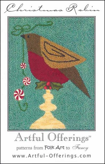 click here to view larger image of Christmas Robin (Punchneedle) (Punchneedle)