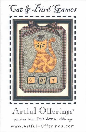 click here to view larger image of Cat & Bird Games (Punchneedle) (Punchneedle)