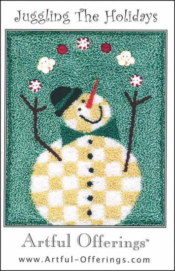 click here to view larger image of Juggling The Holidays (Punchneedle) (Punchneedle)