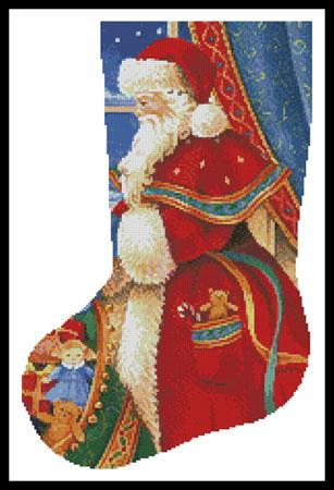 click here to view larger image of Christmas Delivery Stocking (Left) (chart)