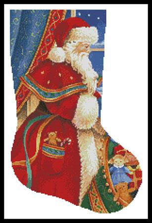 click here to view larger image of Christmas Delivery Stocking (Right) (chart)