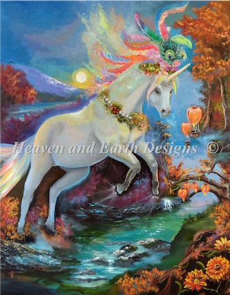 click here to view larger image of Color Fall Unicorn (chart)