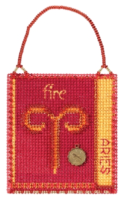click here to view larger image of Aries (2018) - Zodiac Charmed Ornament (counted cross stitch kit)