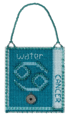 click here to view larger image of Cancer (2018) - Zodiac Charmed Ornament (counted cross stitch kit)