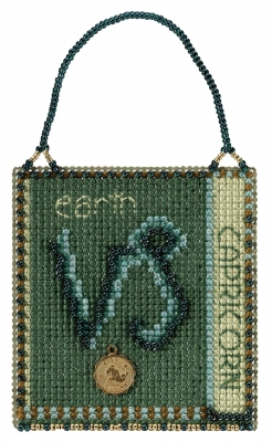 click here to view larger image of Capricorn (2018) - Zodiac Charmed Ornament (counted cross stitch kit)