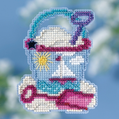 click here to view larger image of Beach Bucket (2018) - Spring Bouquet (counted cross stitch kit)