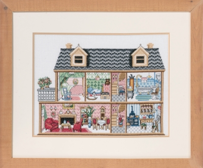 click here to view larger image of Antique Dollhouse (counted cross stitch kit)