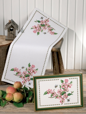 click here to view larger image of Appleflowers Runner (Top Image) (counted cross stitch kit)