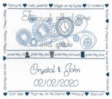 click here to view larger image of Dr Who Wedding Sampler (chart)