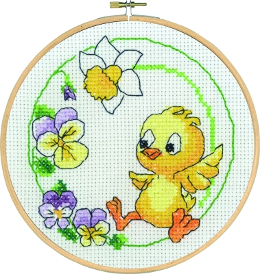 click here to view larger image of Chicken With Frame (counted cross stitch kit)