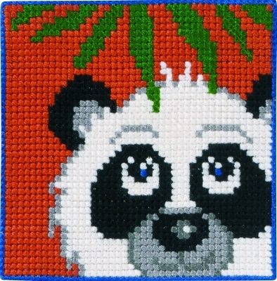 click here to view larger image of Panda - Childrens Kit (counted canvas kit)