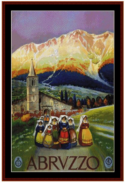 click here to view larger image of Abruzzo Vintage Poster (chart)