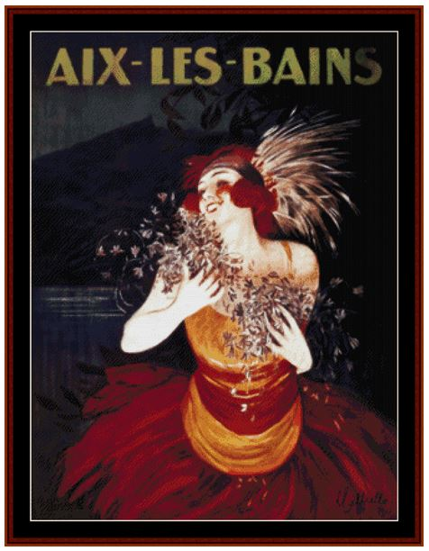 click here to view larger image of Aix-Les Bains Vintage Poster (chart)