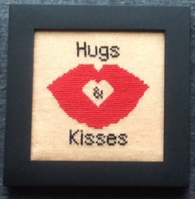 Home Decor - February Hugs & Kisses - click here for more details about chart