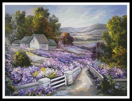 click here to view larger image of Purple Spring Landscape (chart)