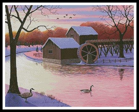 click here to view larger image of Winter at the Old Grist Mill (chart)