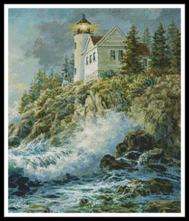 click here to view larger image of Bass Harbor Lighthouse (Cropped)  (Nicky Boehme) (chart)