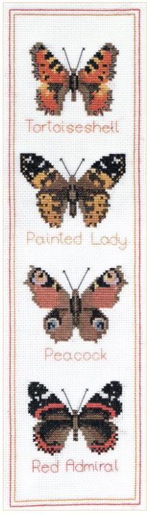 click here to view larger image of Butterfly Panel (counted cross stitch kit)
