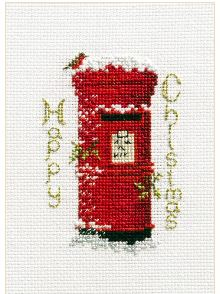 click here to view larger image of Christmas Card - Christmas Post (counted cross stitch kit)