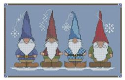click here to view larger image of Winter Snow Gnomes (chart)