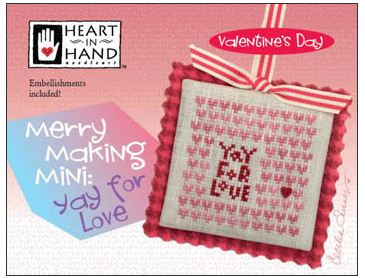 click here to view larger image of Merry Making Mini - Yay For Love (Includes Embellishments) (chart with charms/buttons)