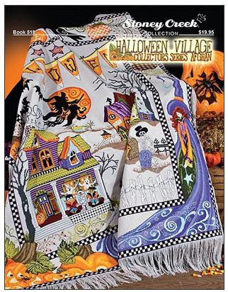 click here to view larger image of Halloween Village Collectors Series Afghan (chart)