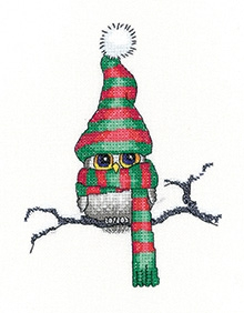 click here to view larger image of Ollie Owl (Evenweave) (counted cross stitch kit)