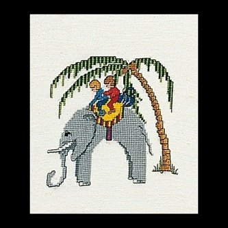 click here to view larger image of Elephant (Linen) (counted cross stitch kit)