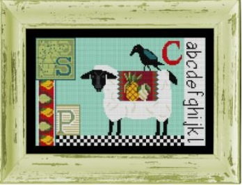 click here to view larger image of Sheep-Crow Sampler - Cross Stitch Kit (counted cross stitch kit)