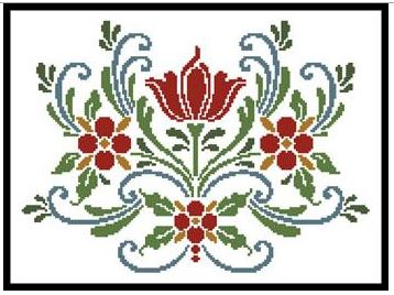 click here to view larger image of Rosemaling 5 (chart)