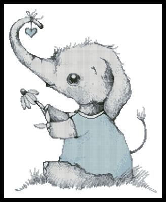 click here to view larger image of Little Boy Daisy Elephant (chart)