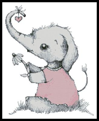 click here to view larger image of Little Girl Daisy Elephant (chart)