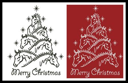 click here to view larger image of Horse Christmas Tree (chart)