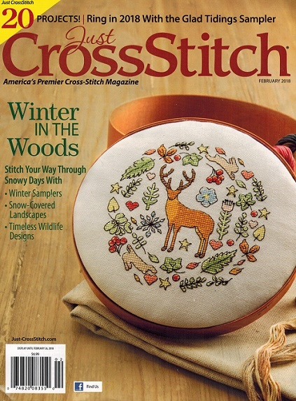 click here to view larger image of Just Cross Stitch - February 2018 (magazines)