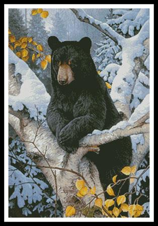 click here to view larger image of Black Bear Painting (chart)