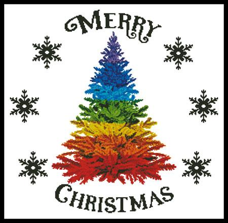 click here to view larger image of Rainbow Christmas Tree (chart)