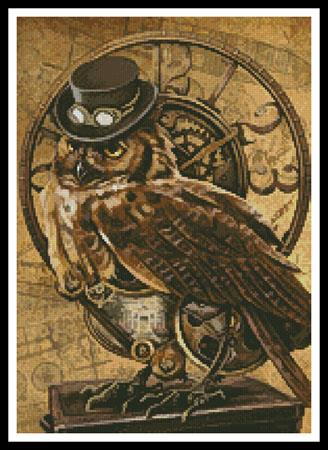 click here to view larger image of Medium Steampunk Owl (chart)